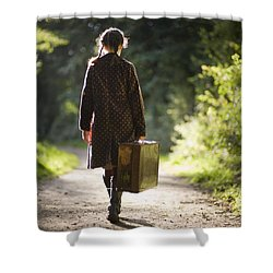 Leaving Home Shower Curtain by Lee Avison