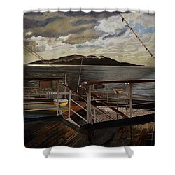 Leaving Queen Charlotte Sound Shower Curtain by Thu Nguyen