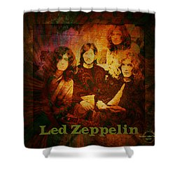 Led Zeppelin - Kashmir Shower Curtain by Absinthe Art By Michelle LeAnn Scott