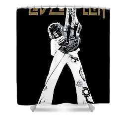 Led Zeppelin No.06 Shower Curtain by Caio Caldas