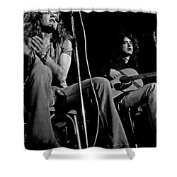 Led Zeppelin Shower Curtain by Georgia Fowler