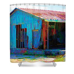 Left To Fly Shower Curtain by Robin Lewis
