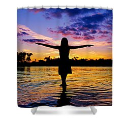 Legend Shower Curtain by Laura Fasulo