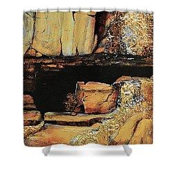 Legendary Lost Dutchman Mine Shower Curtain by JAXINE Cummins