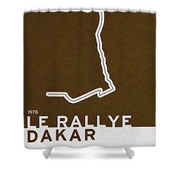 Legendary Races - 1978 Le Rallye Dakar Shower Curtain by Chungkong Art