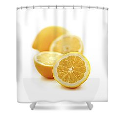 Lemons Shower Curtain by Elena Elisseeva