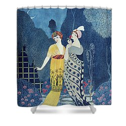 Les Modes Shower Curtain by Georges Barbier