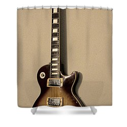 Les Paul Electric Guitar Shower Curtain by Bill Cannon