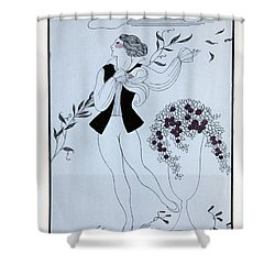 Les Sylphides Shower Curtain by Georges Barbier