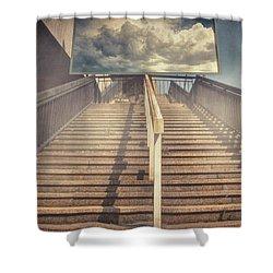 Lestnitsa Shower Curtain by Taylan Apukovska