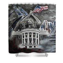 Let Freedom Ring Shower Curtain by Carla Carson