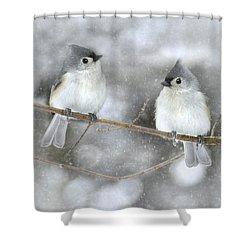 Let It Snow Shower Curtain by Lori Deiter