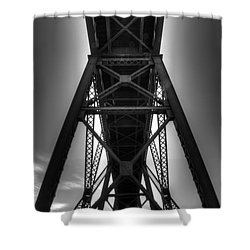 Lethbridge High Level Bridge 4 Shower Curtain by Bob Christopher