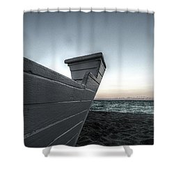 Let's Sail To The Moon Shower Curtain by Richard Reeve
