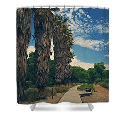 Let's Walk This Path Together Shower Curtain by Laurie Search