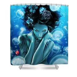 Leviathan Shower Curtain by Pete Tapang