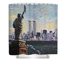 Liberty Shower Curtain by Ylli Haruni