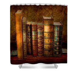 Librarian - Writer - Antiquarian Books Shower Curtain by Mike Savad