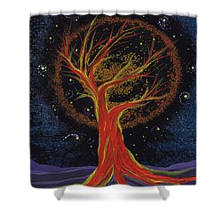 Life Blood Tree By Jrr Shower Curtain by First Star Art