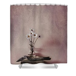 Life Gives You Daisies Shower Curtain by Priska Wettstein