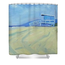 Life Guard Shower Curtain by Nancy Merkle