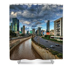 Life In The Fast Lane Shower Curtain by Ronsho