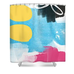 Life Is A Celebration-abstract Art Shower Curtain by Linda Woods