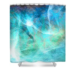 Life Is A Gift - Abstract Art Shower Curtain by Jaison Cianelli