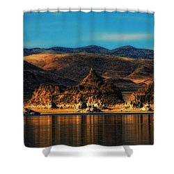 Life On Mars Shower Curtain by Donna Blackhall