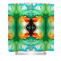 Life Patterns 1 - Abstract Art By Sharon Cummings Shower Curtain by Sharon Cummings