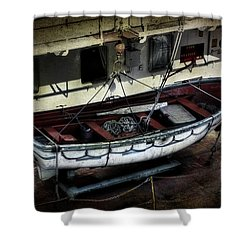 Lifeboat Shower Curtain by Evie Carrier
