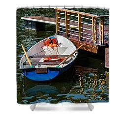Lifeboat On Duty - Featured 3 Shower Curtain by Alexander Senin