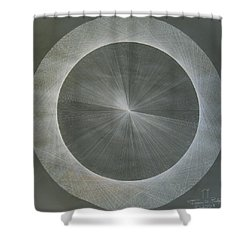 Light Is Pi  The Shape Of Pi Shower Curtain by Jason Padgett