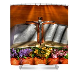 Light Of The World Shower Curtain by Donna Kennedy