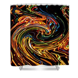 Light Painting 2 Shower Curtain by Delphimages Photo Creations