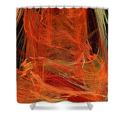 Light The Torch A Flickering Flame - Panorama  - Abstract - Fractal Art Shower Curtain by Andee Design