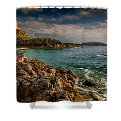 Lighthouse Bay Shower Curtain by Adrian Evans