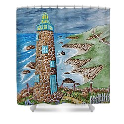 Lighthouse Shower Curtain by Katherine Young-Beck