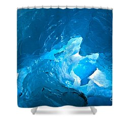 Lighting In Nigardsbreen Glacier Grotto 3 Shower Curtain by Heiko Koehrer-Wagner