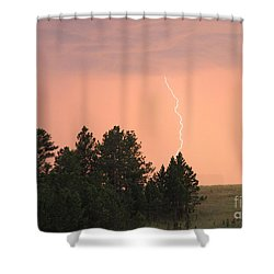Shower Curtain featuring the photograph Lighting Strikes In Custer State Park by Bill Gabbert