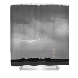 Lightning Bolting Across The Sky Bwsc Shower Curtain by James BO  Insogna