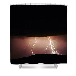 Lightning Dancing Shower Curtain by Jeff Swan