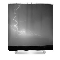 Lightning Goes Boom In The Middle Of The Night Bw Shower Curtain by James BO  Insogna
