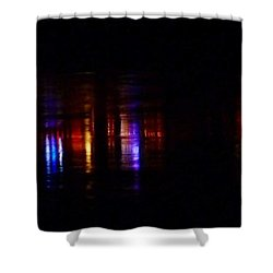 Lights On The River Reflection Shower Curtain by Susan Garren