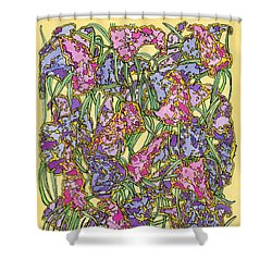 Lilacs Electric Shower Curtain by Mag Pringle Gire