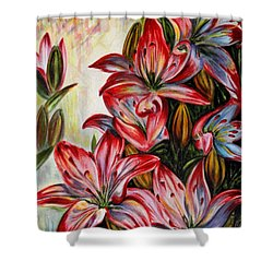 Lilies Shower Curtain by Harsh Malik