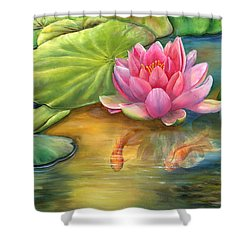Lilly Pond Shower Curtain by Kathy Brecheisen