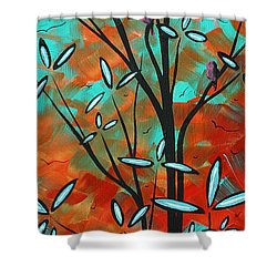 Lilly Pulitzer Inspired Abstract Art Colorful Original Painting Spring Blossoms By Madart Shower Curtain by Megan Duncanson