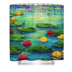 Lily Pond Shower Curtain by Teresa Wegrzyn