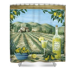 Limoncello Shower Curtain by Marilyn Dunlap